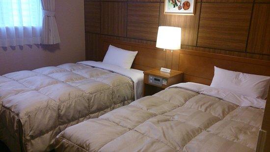 Hotel Route Inn Kanazawa Ekimae : ツインルームです