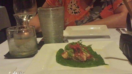 Privilege Restaurant & Bar : Raw salmon starter