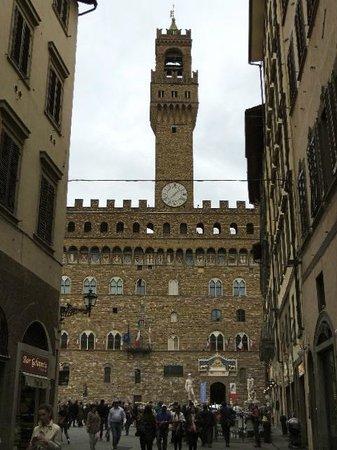 Piazza della Signoria : 見えてきました!