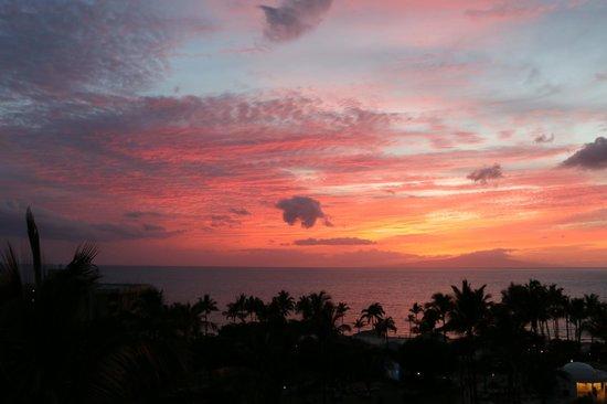 Fairmont Kea Lani, Maui: Coucher de soleil