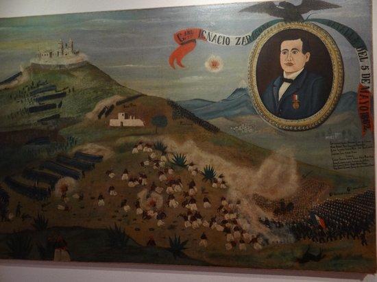 Mural en el techo al final del fuerte picture of fuertes for El mural restaurante puebla