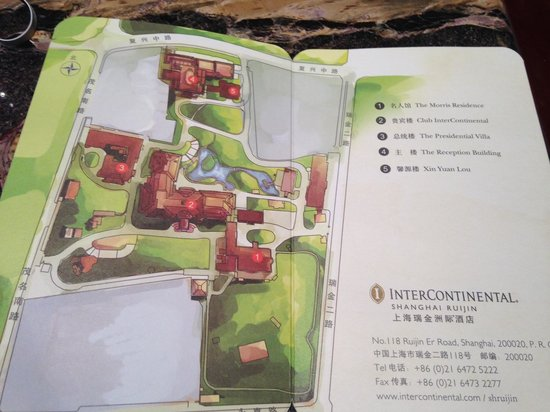 InterContinental Shanghai Ruijin: The map of the hotel's buildings
