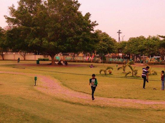 Dwarawati Bhaktiniwas: Play area opp to guest house