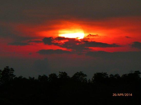 Bintan Spa Villa Beach Resort : Sunset over mangrove swamp