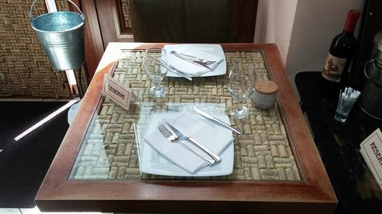 Bock Bistro: столик-креатив