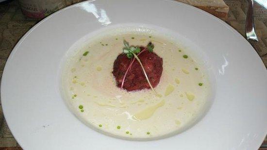 Bock Bistro: суп из хрена