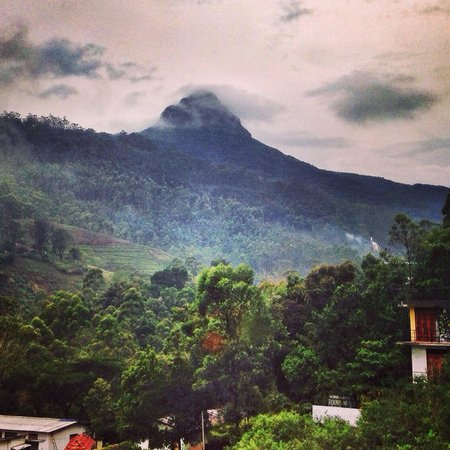 View from the Slightly Chilled restaurant of Adam's Peak.