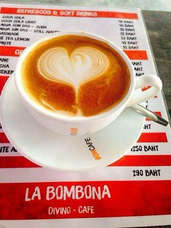 La Bombona Diving Cafe: Great Coffee.