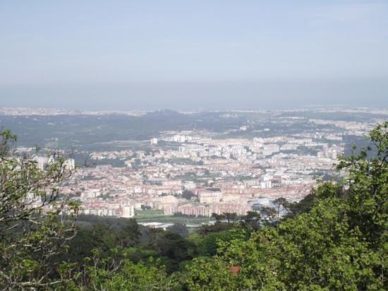 Vila Velha da Sintra: sintra do alto do castelo da pena