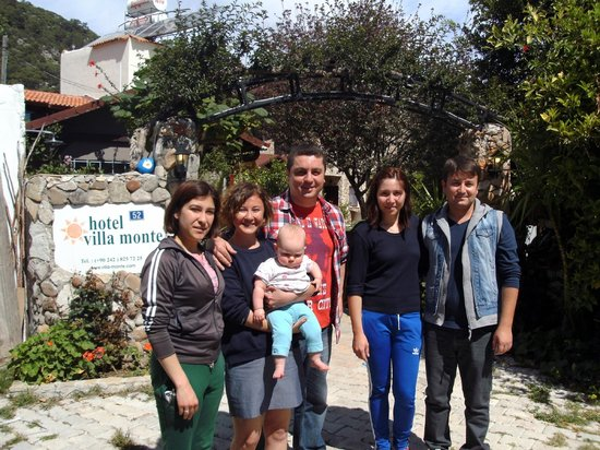 Hotel Villa Monte: The team at Villa Monte with one of their little guests.