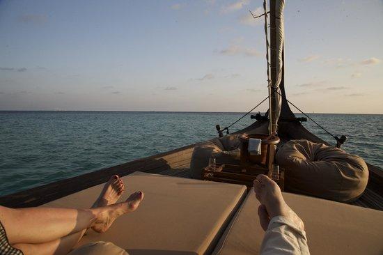 Baros Maldives: Private dinner on traditional maldivian boat