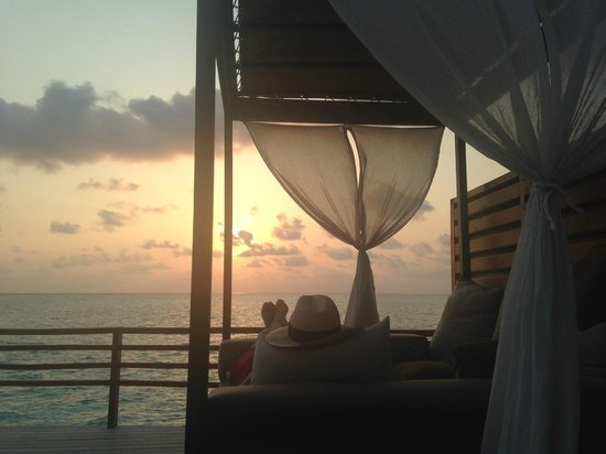 Baros Maldives: Our typical evening view from room