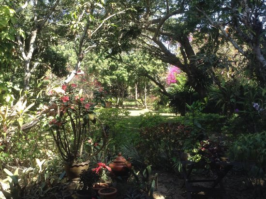 Romyen Garden Resort: The view from the front porch - gorgeous gardens!