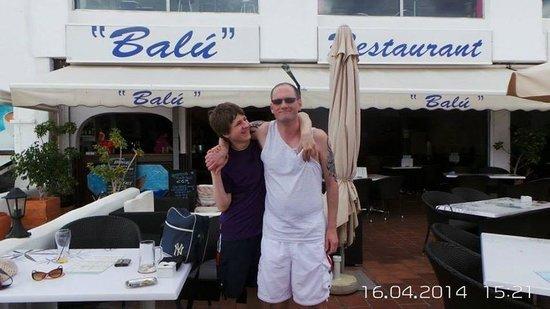 Restaurant Family Bar Balu: The lads at the balu