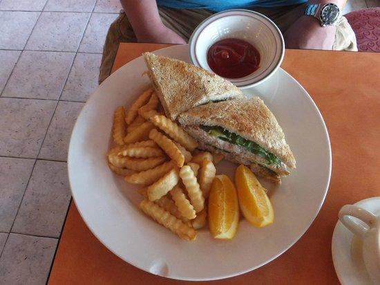 Cafe at the Park: ツナサンドイッチ6.95ドル