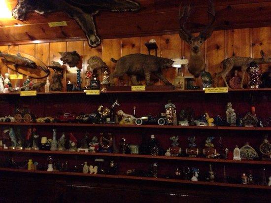 Mohawk Restaurant & Lounge: Whiskey bottle collection
