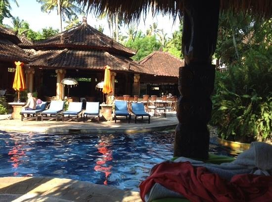 Rambutan Boutique Hotel: one of two pools here, the restaurant is where we start our day
