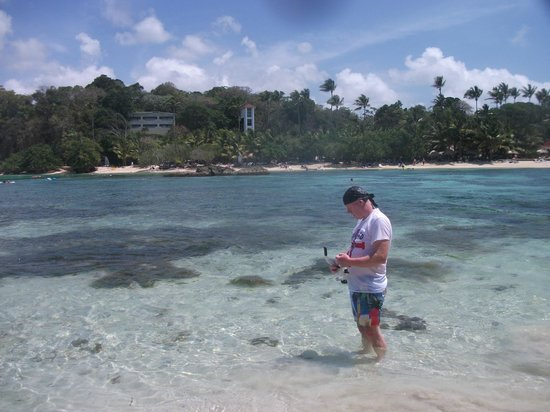 Luxury Bahia Principe Cayo Levantado Don Pablo Collection: Standing on the little island after swimming across