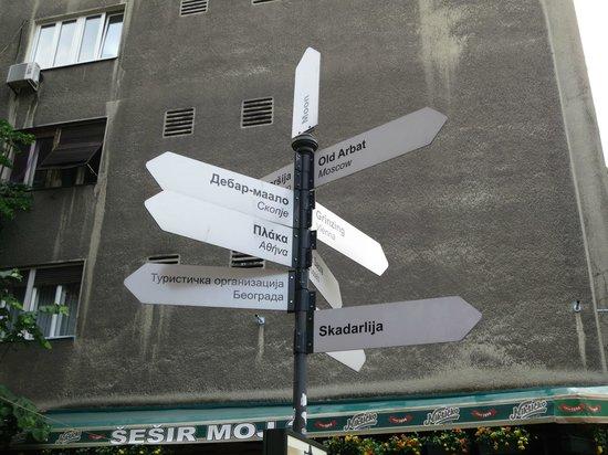 Skadarlija : directions pointing to similar streets in the world