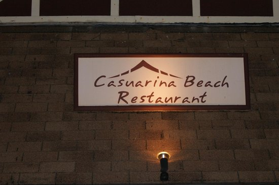 Entrance of Casuarina beach restaurant