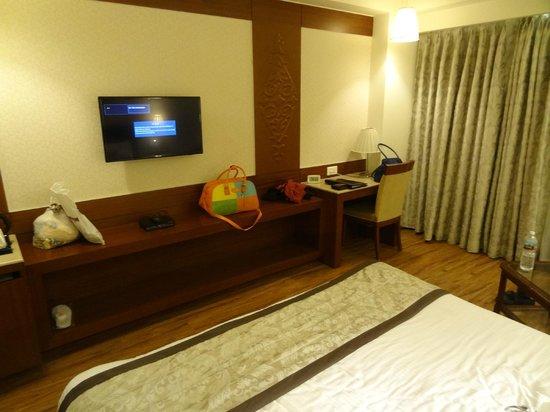 Hotel Regent Grand: TV and Desk