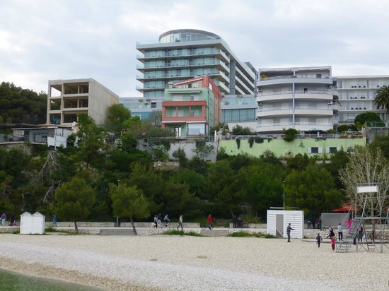 Radisson Blu Resort & Spa Split: View of the Radisson Blu from the beach