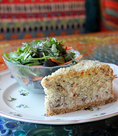 Mad about Chocolate: Lunch special: savory cheesecake with veggies, cheese and  meats changes daily