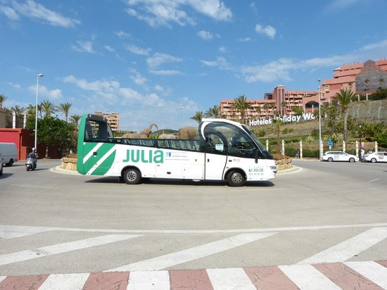 Holiday Hydros: Bus shuttle servicing the complex