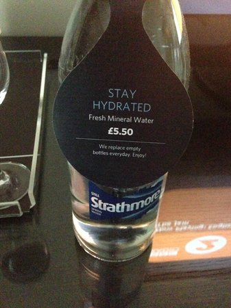 Hilton London Canary Wharf: £5.50 for water
