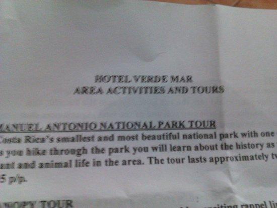 Hotel Verde Mar: Aktivitäten (viel zu teuer)