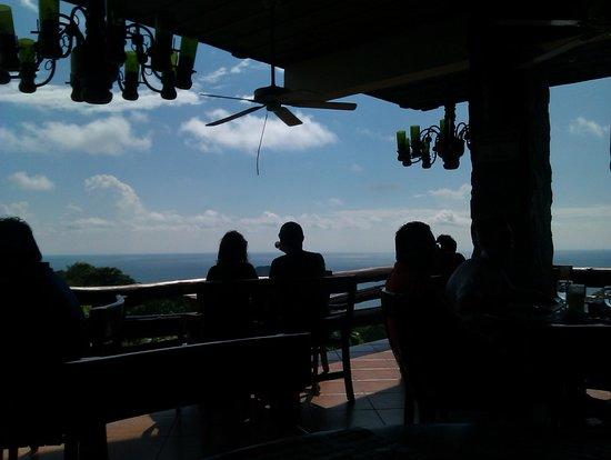 Hotel Verde Mar: Restaurant auf dem Berg