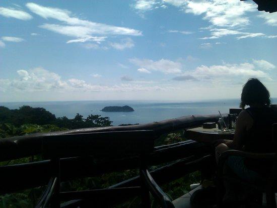 Hotel Verde Mar: Blick vom Restaurant auf dem Berg