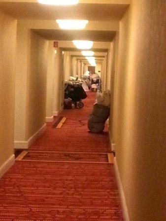 Renaissance Baltimore Harborplace Hotel: hallway pileup