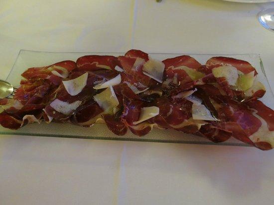 Amelibia : Cecina con queso Idiazábal