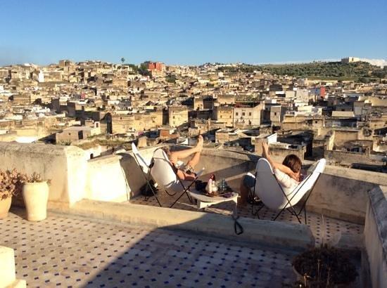 Dar Seffarine: Roof terrace