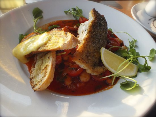 Life's a Beach: Cod with a rich chorizo and tomato dressing