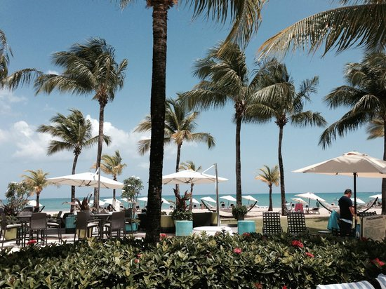 Courtyard by Marriott Isla Verde Beach Resort: Beautiful beach - oasis plus a short drive to airport!