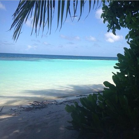 Baros Maldives : Baros small and lovely beach.