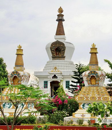 Pillars of  Buddhist  teachings  at  Austrian  Monastery