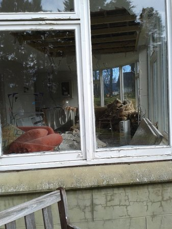Ossian Hotel: View into window next to hotel's entrance