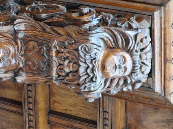 Centro histórico de Lima: Detalle en madera