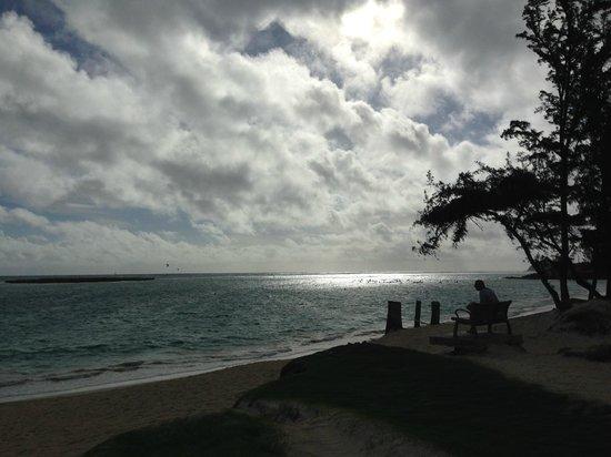 Kailua Beach Park: 天気は微妙でしたが・・・