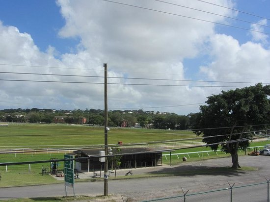 Barbados Garrison: View of the racecourse from the Barracks