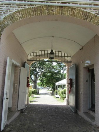 Barbados Garrison: The entryway of the Barbados National Museum