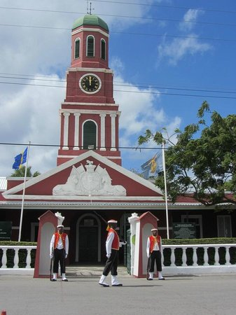 Barbados Garrison: The Main Guardhouse for changing of the Guards