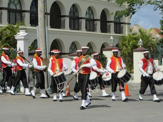 Barbados Garrison: Regiment bank performing at Changing of the Guards
