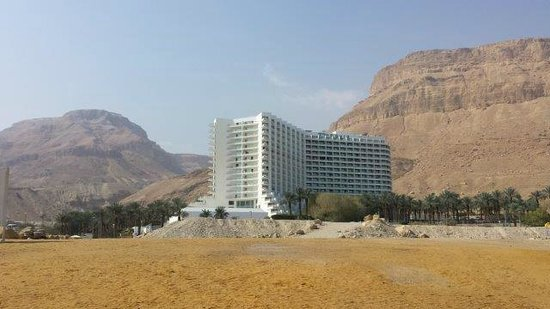 David Dead Sea Resort & Spa : view of the hotel from the beach