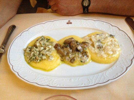 Ristorante La Torretta: Tris di polente