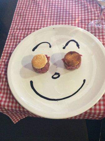 Amici Miei: Carpaccio para mi hijo... Gracias Chef Luca!!!
