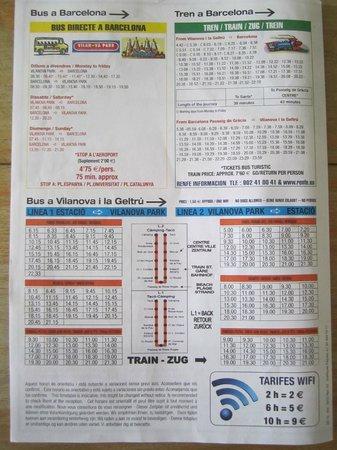 Vilanova Park: horaires des bus et trains